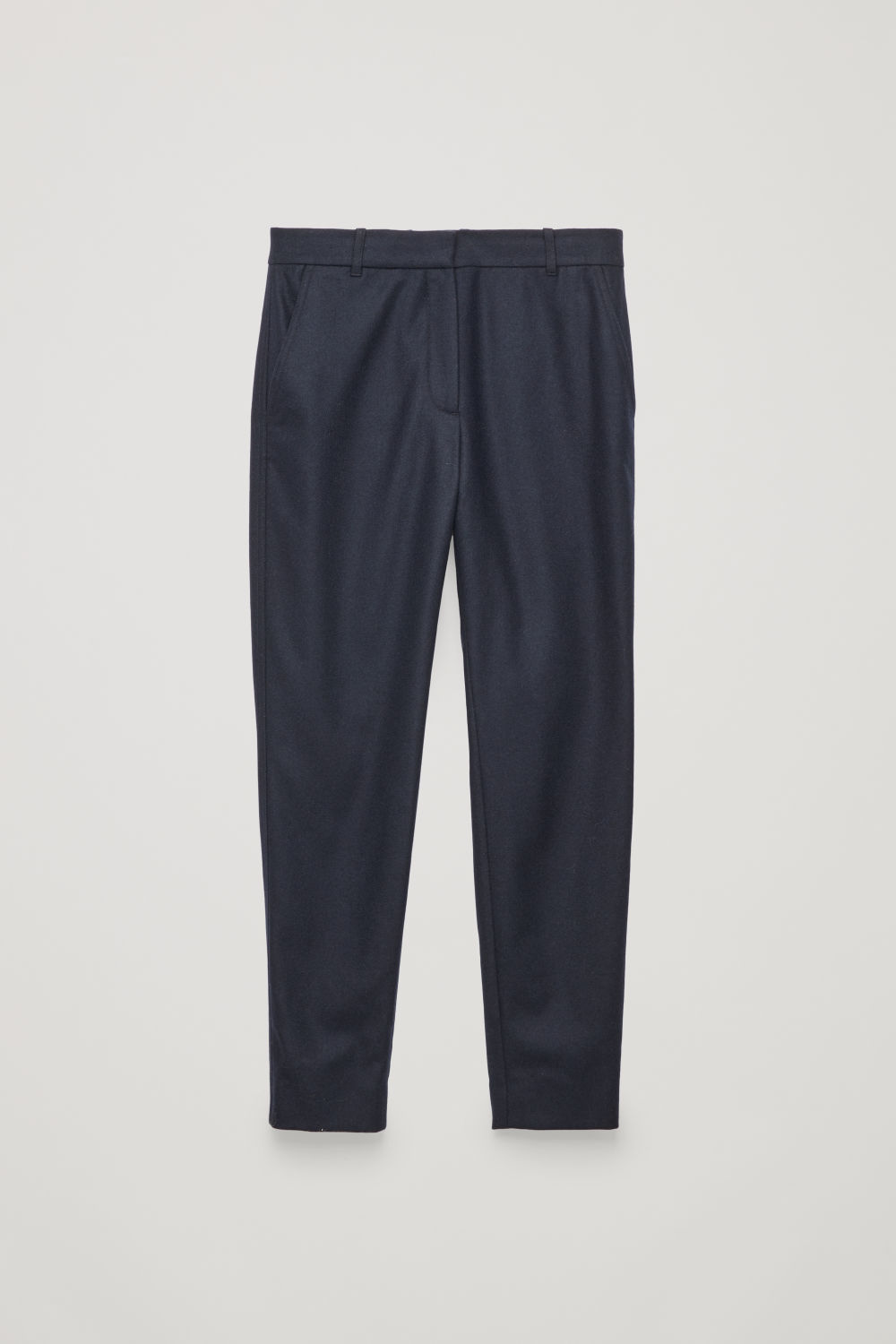 SLIM RELAXED-LEG WOOL TROUSERS