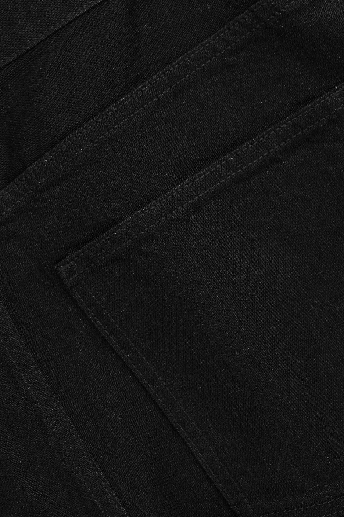 Side image of Cos 28 inch selvedge relaxed leg jeans in black