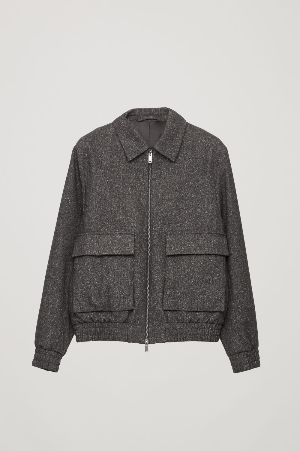 SPECKLED WOOL-FELT JACKET
