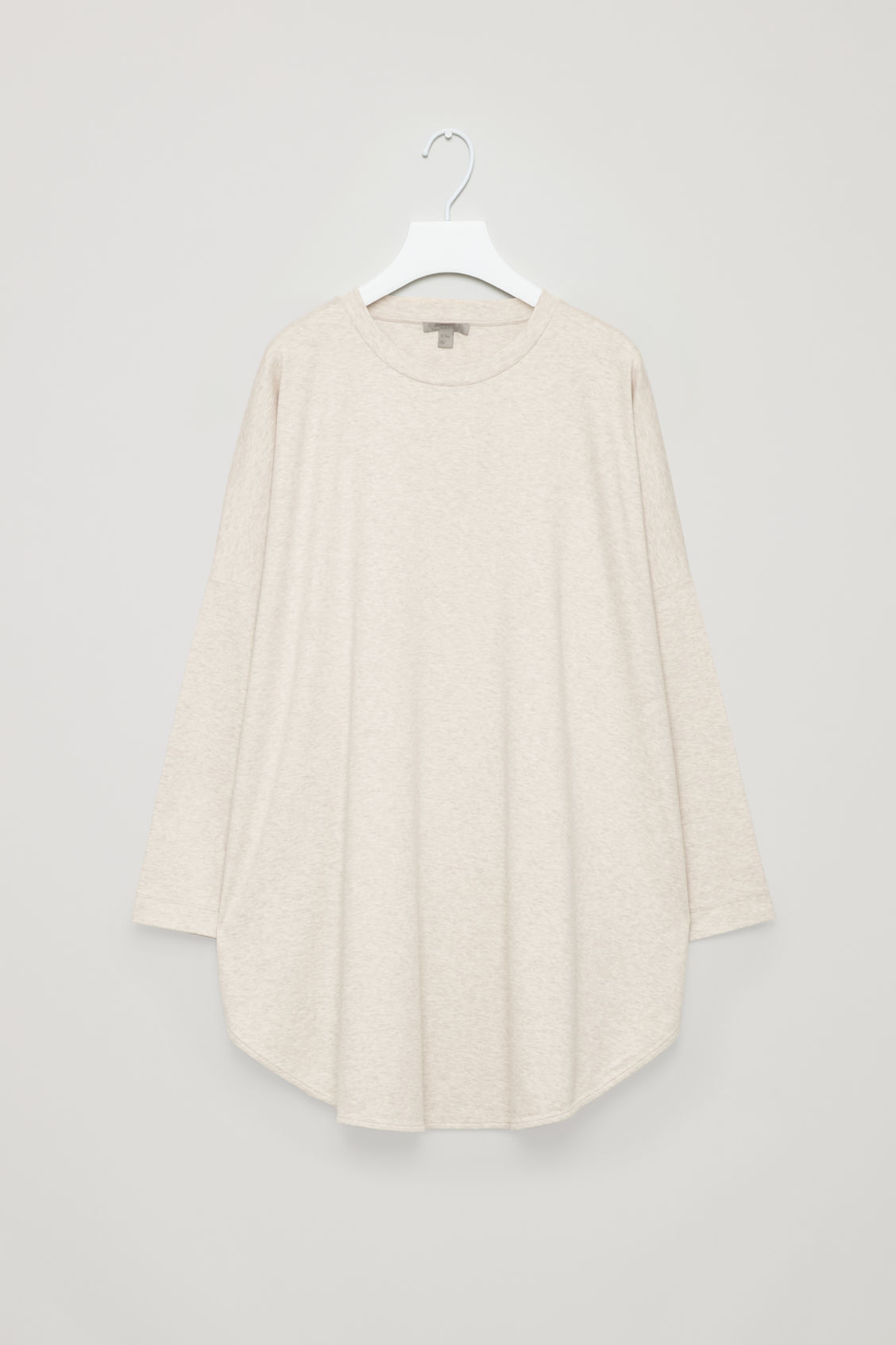 Front image of Cos cocoon jersey top in beige