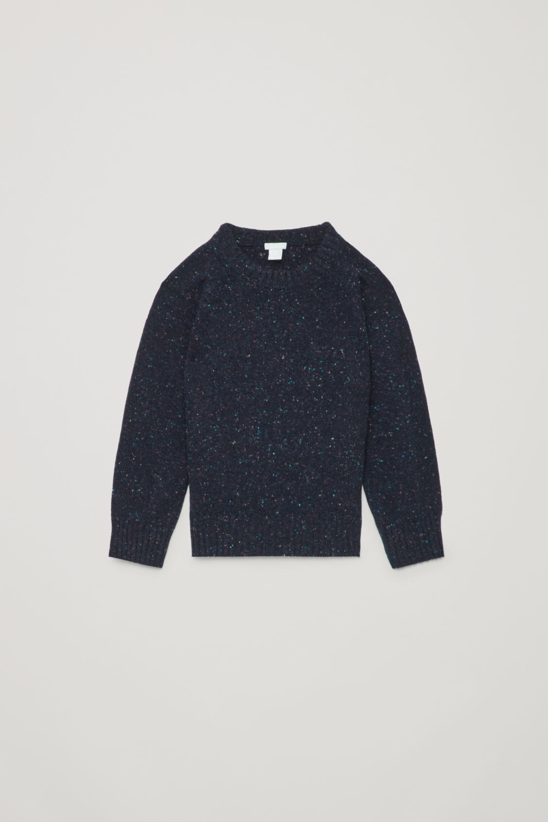 Front image of Cos flecked wool jumper in blue