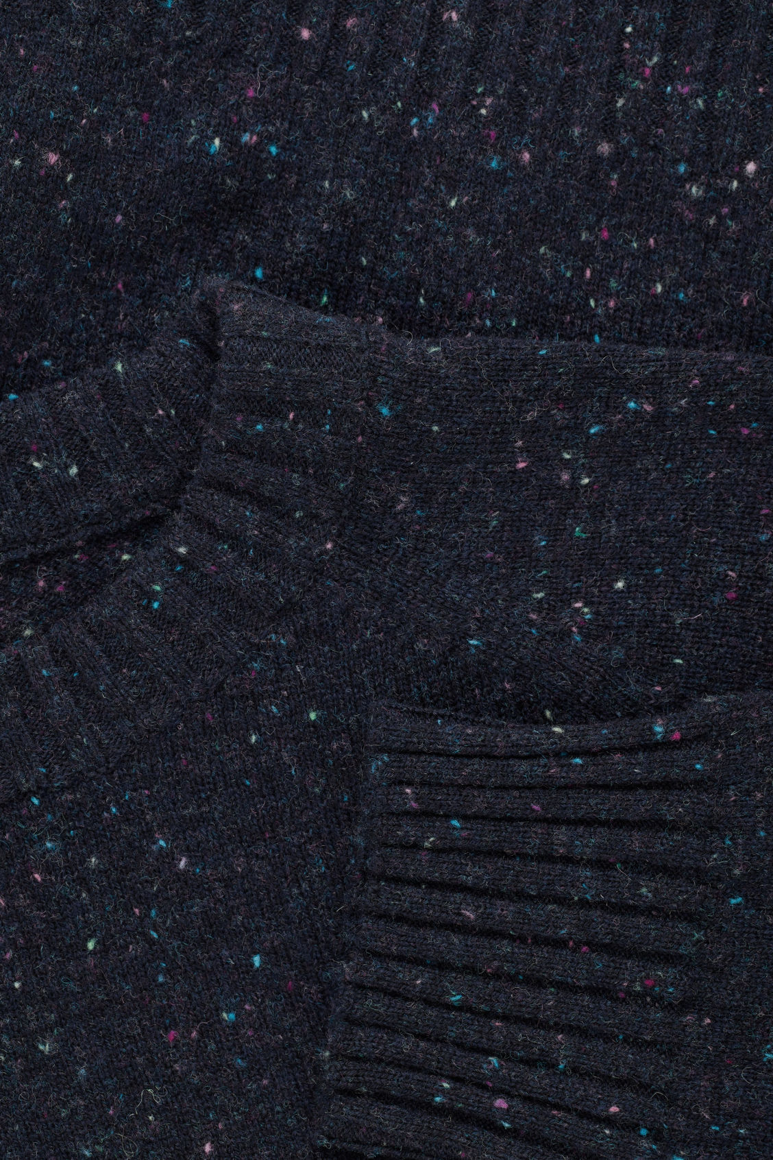 Side image of Cos flecked wool jumper in blue