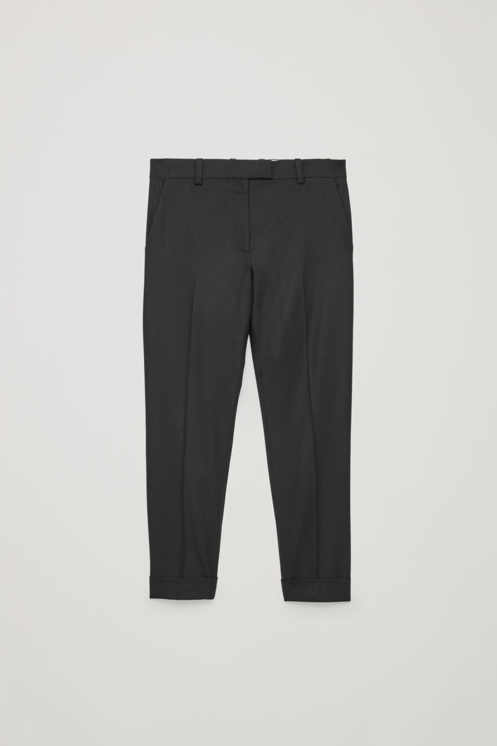 WOOL PRESS-FOLD TROUSERS