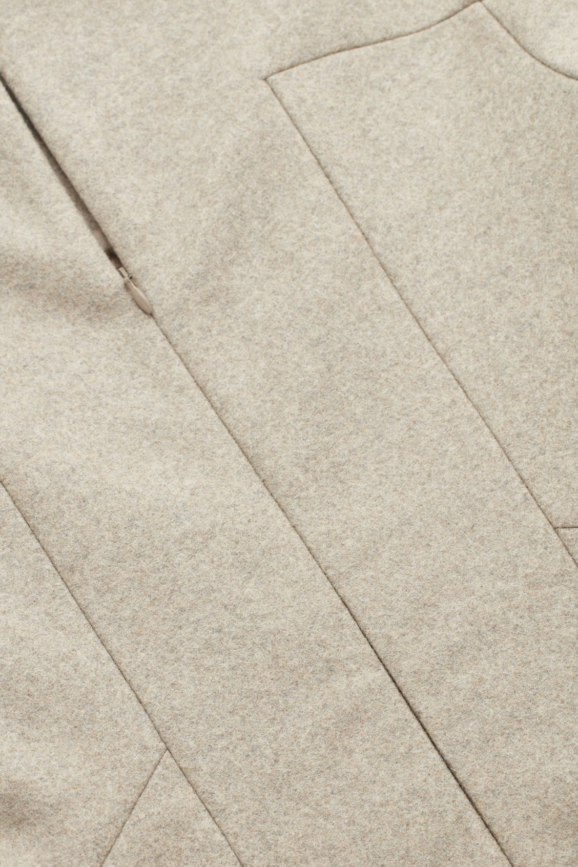Side image of Cos wool-cashmere tailored dress in brown