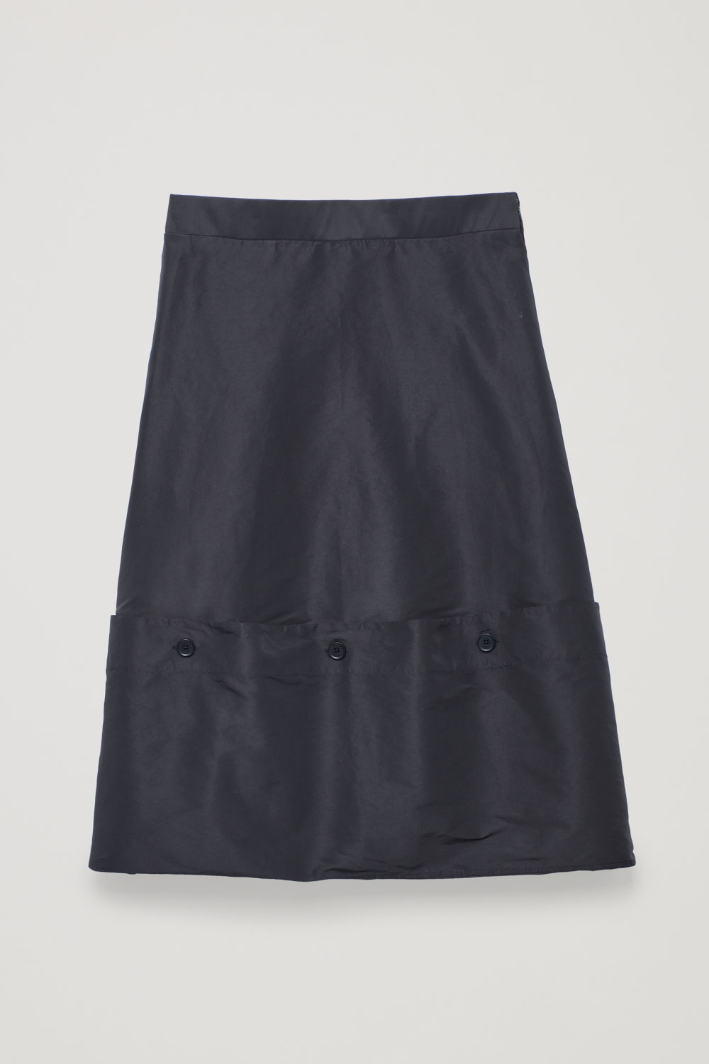DRAPED SKIRT WITH BUTTONS
