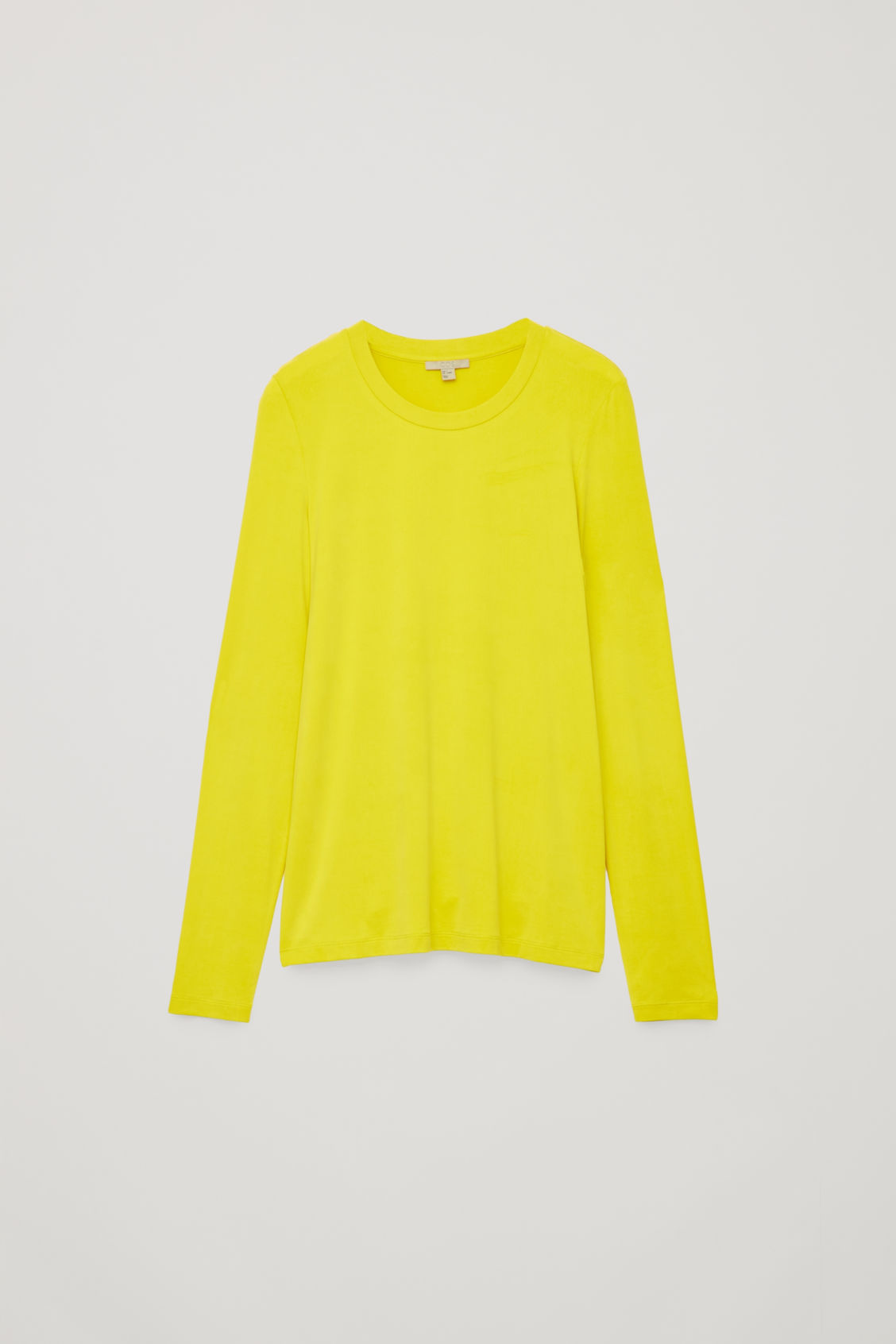 Front image of Cos slim-fit long-sleeved top in yellow