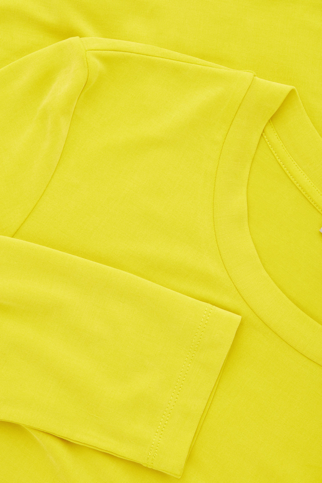 Side image of Cos slim-fit long-sleeved top in yellow