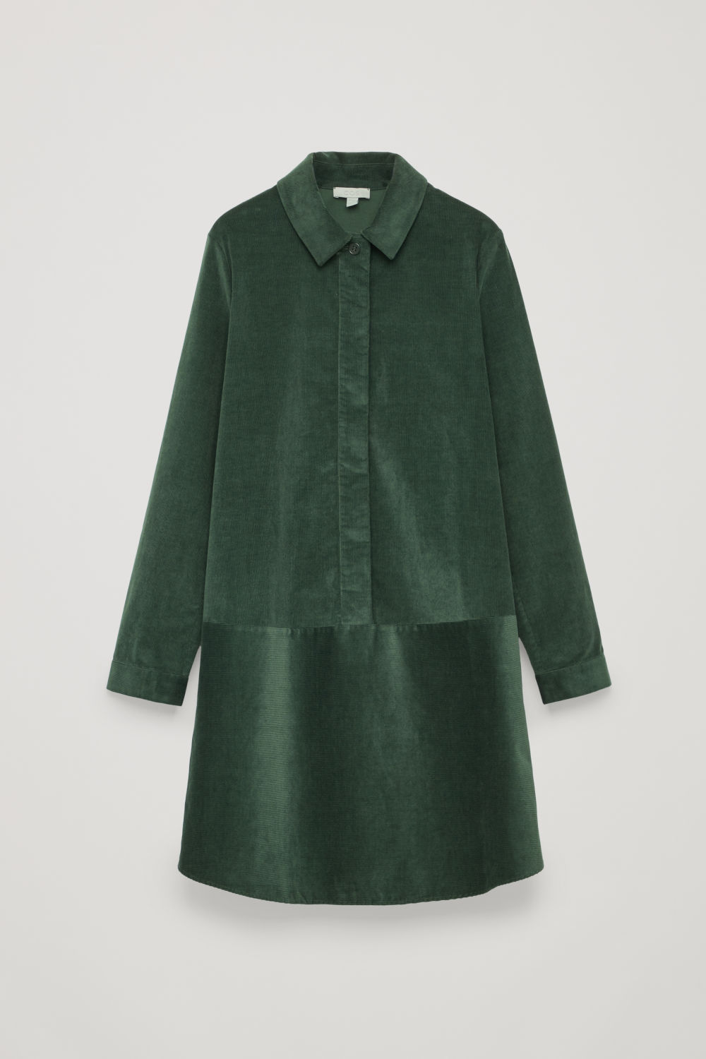 A-LINE CORDUROY SHIRT DRESS