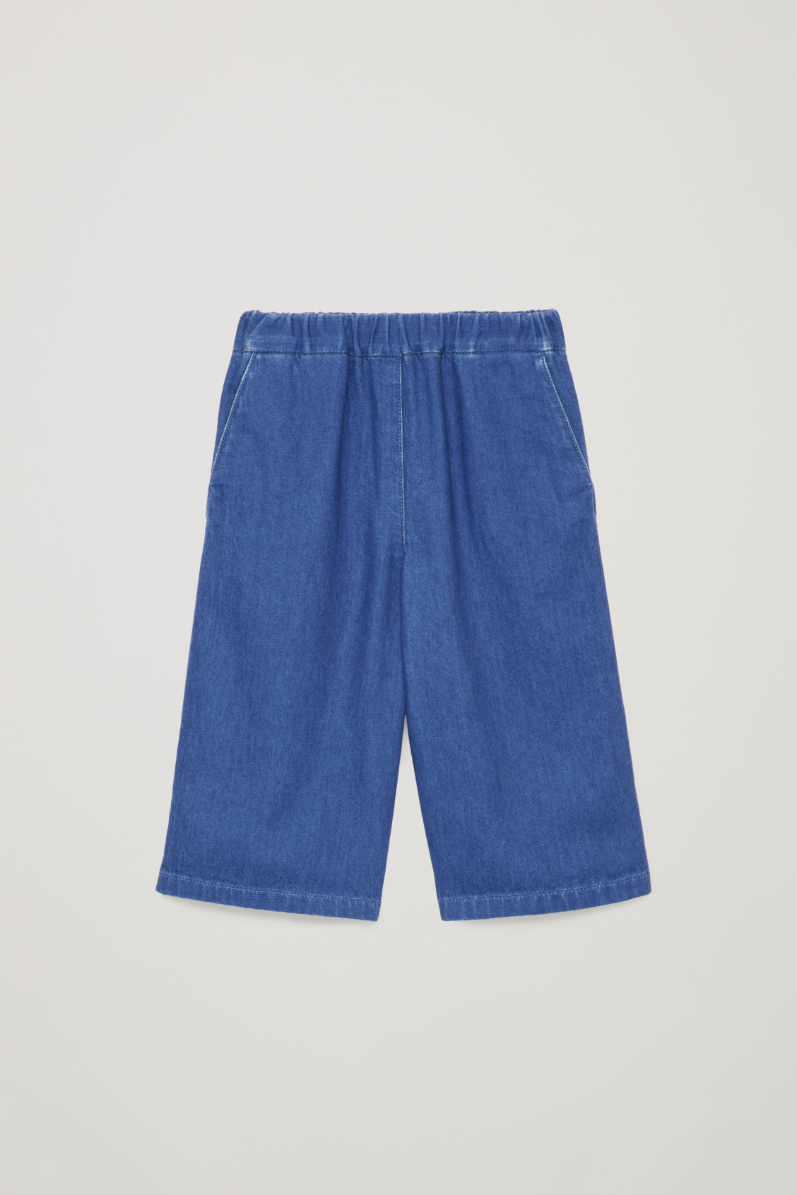 Front image of Cos wide-leg trousers in blue