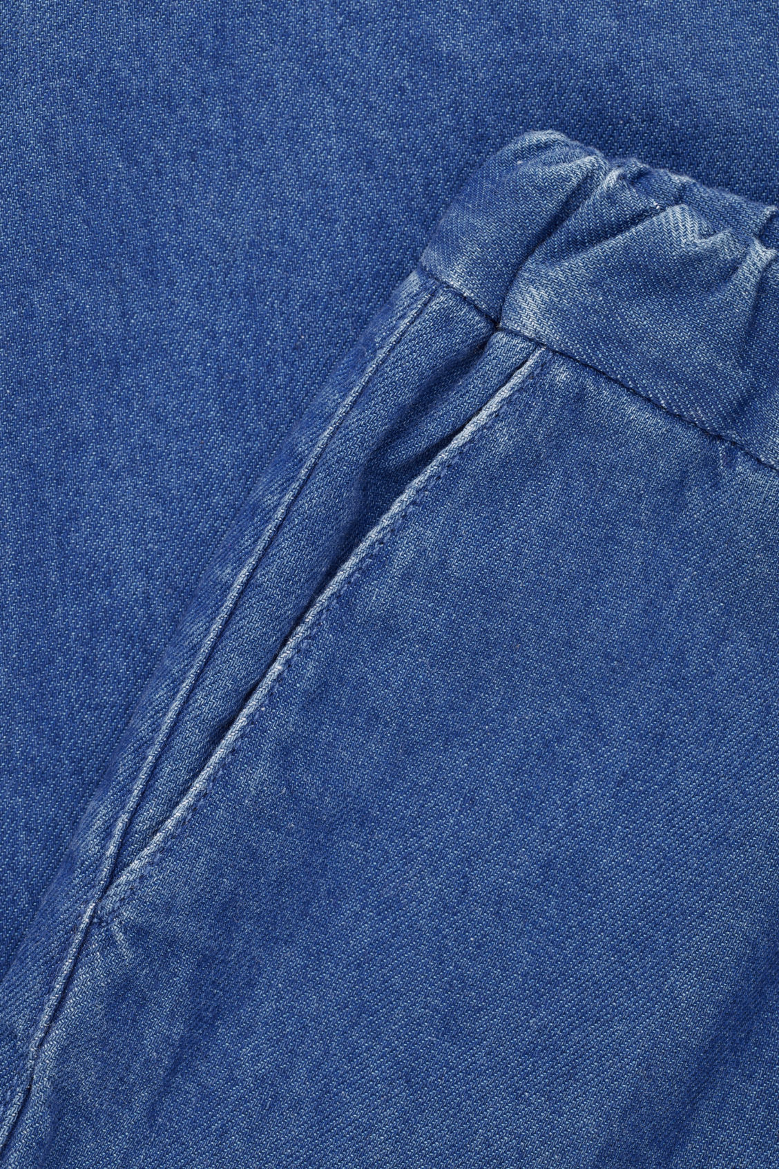 Side image of Cos wide-leg trousers in blue
