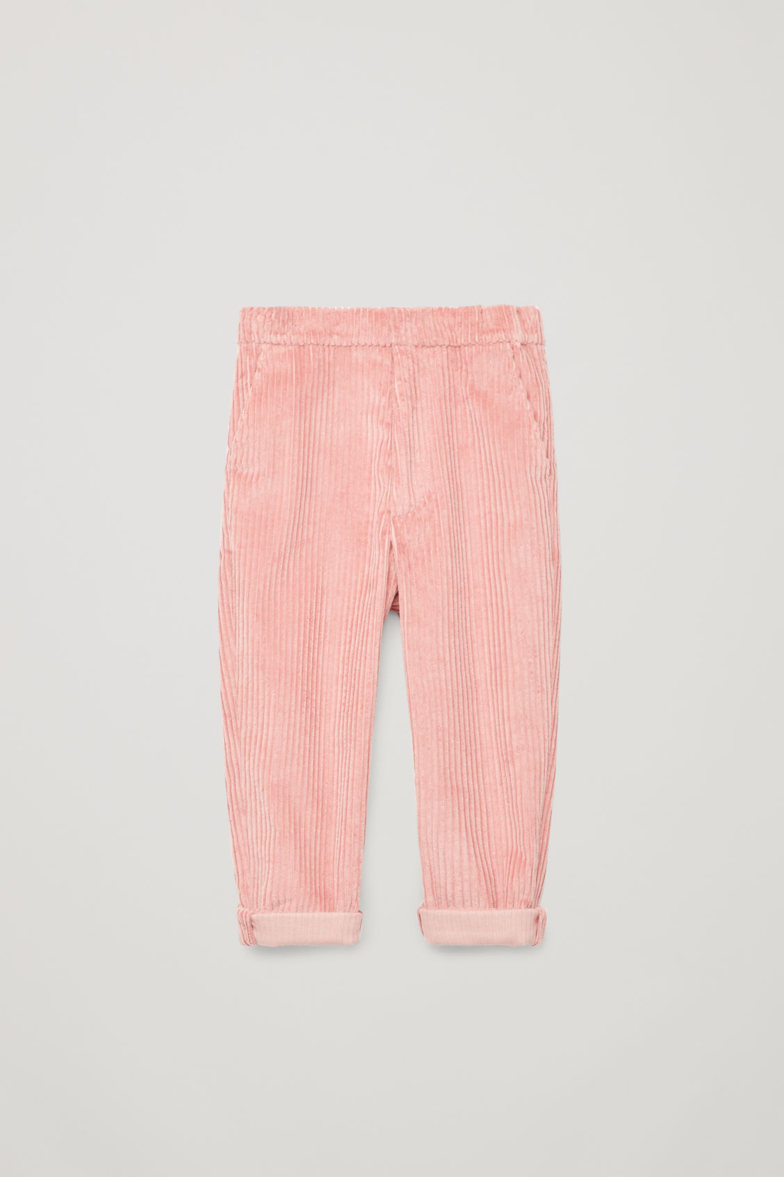 Front image of Cos corduroy trousers in pink