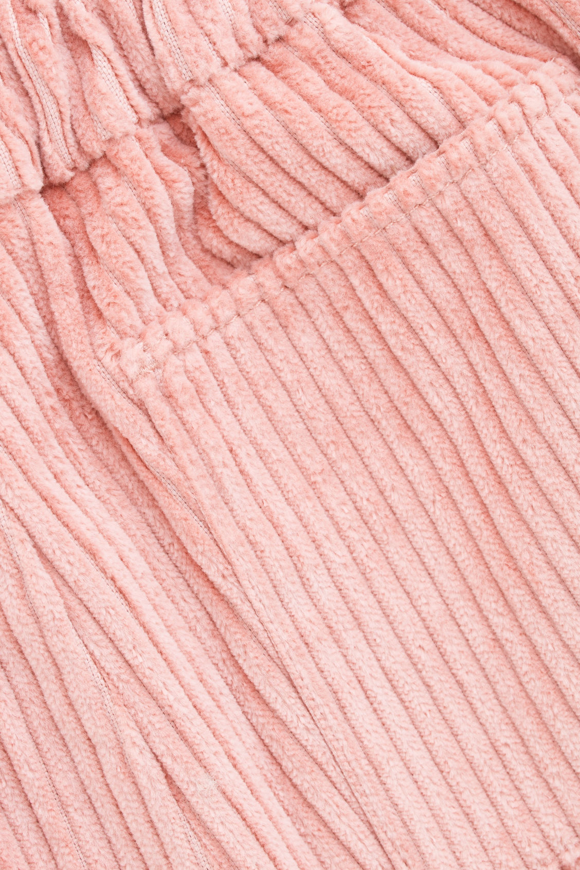 Side image of Cos corduroy trousers in pink