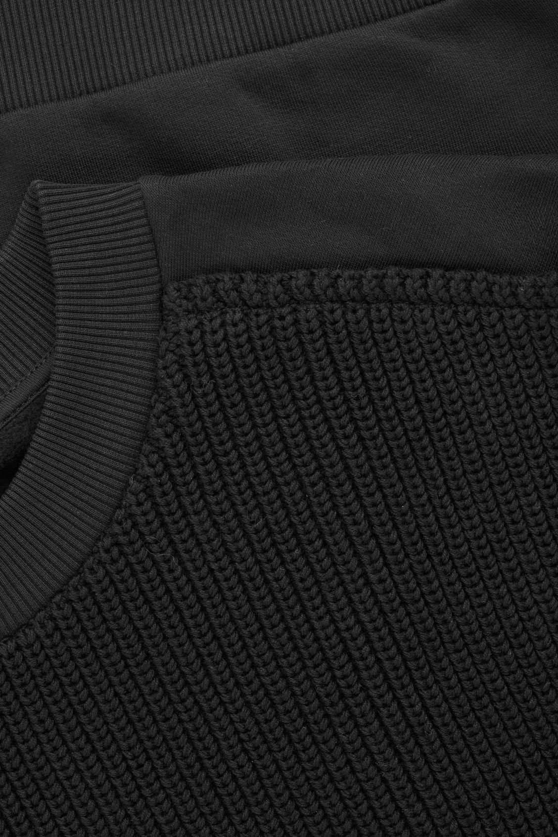 Side image of Cos knit-jersey sleeveless top in black