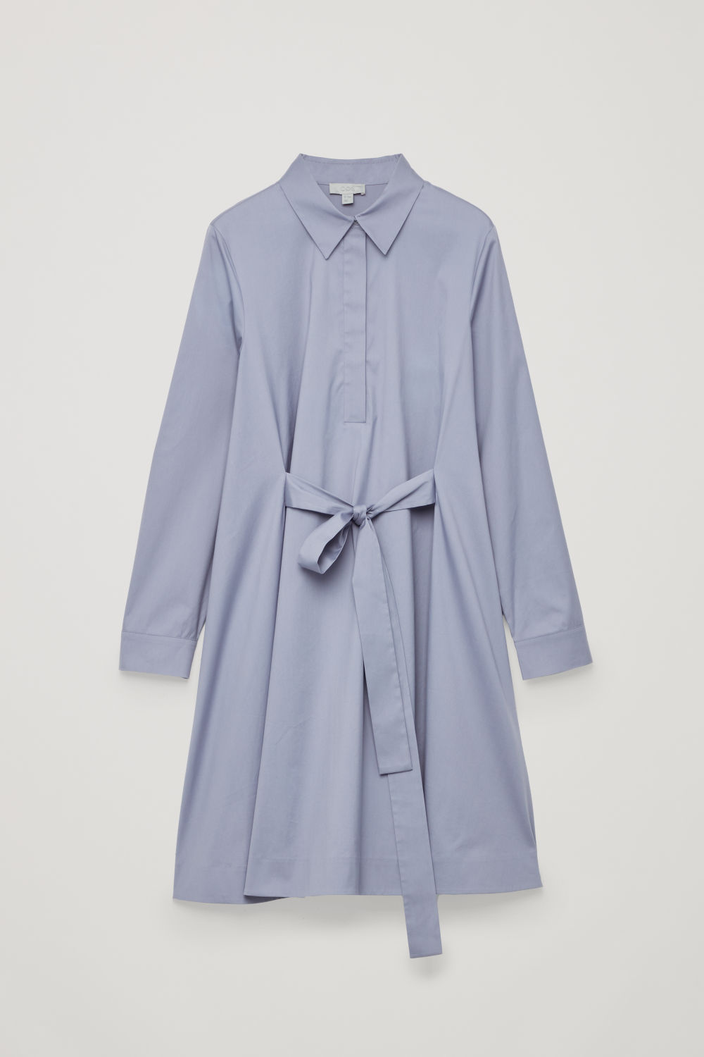 SHIRT DRESS WITH FRONT TIE