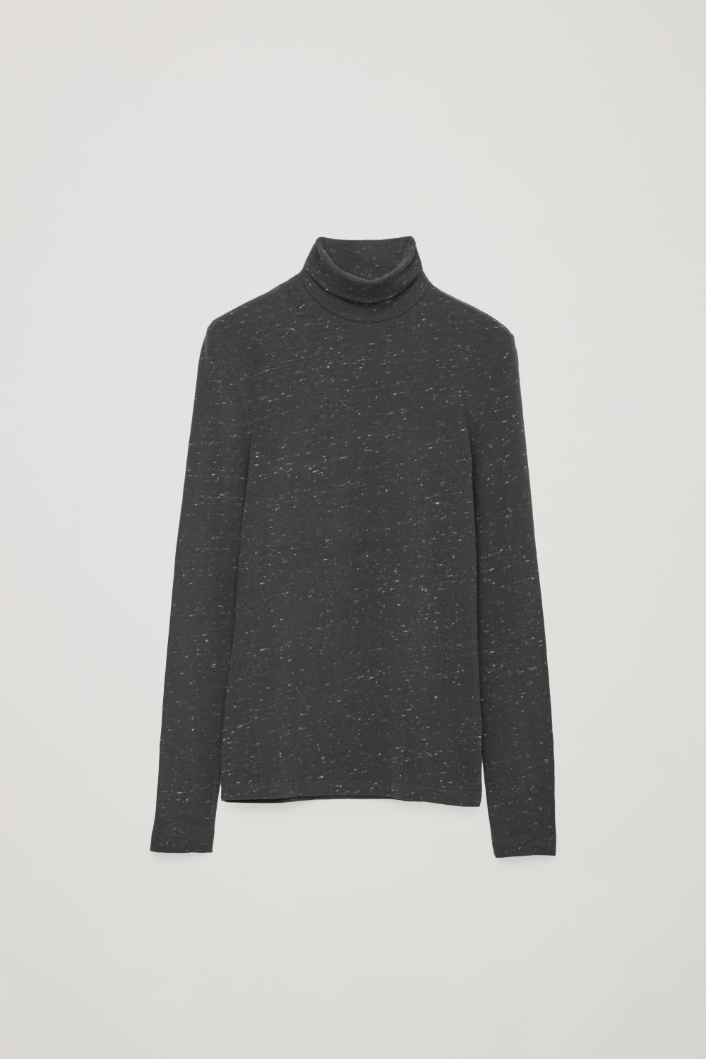 SPECKLED ROLL-NECK TOP