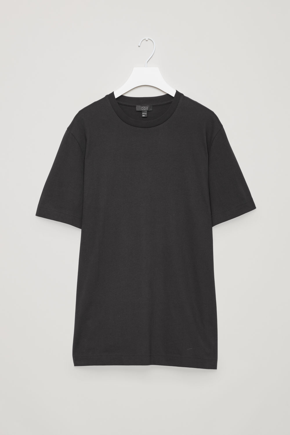 Front image of Cos relaxed-fit jersey t-shirt in black
