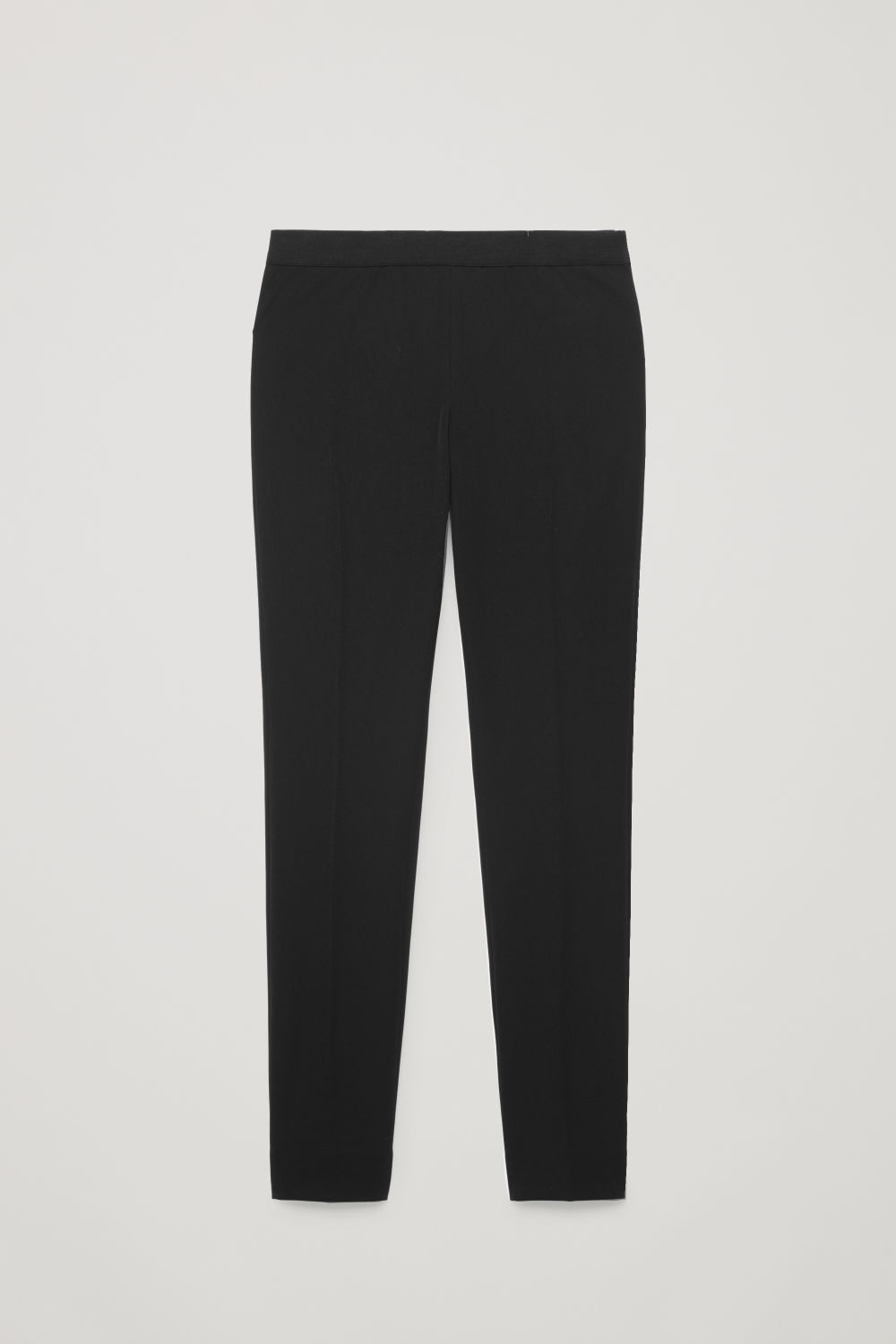 ELASTIC-WAIST STRETCH TROUSERS