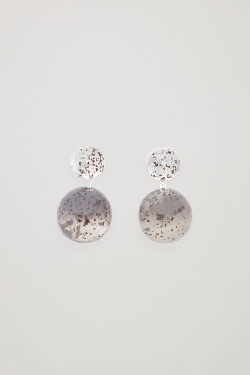 SPECKLED BEADED DROP EARRINGS