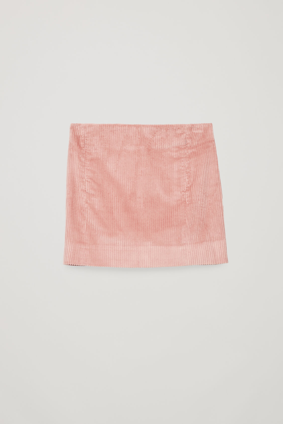 Front image of Cos short corduroy skirt in pink