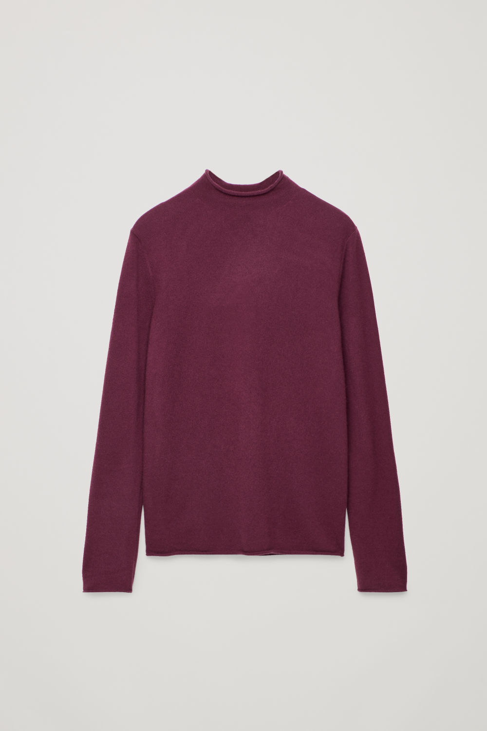 CASHMERE MOCK-NECK JUMPER