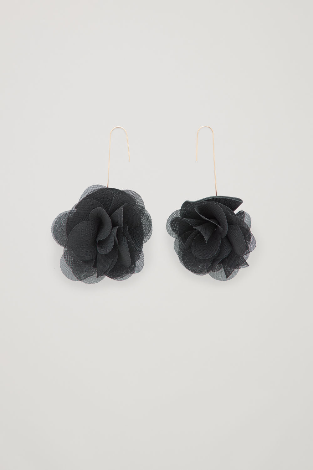 FLORAL LEATHER DROP EARRINGS
