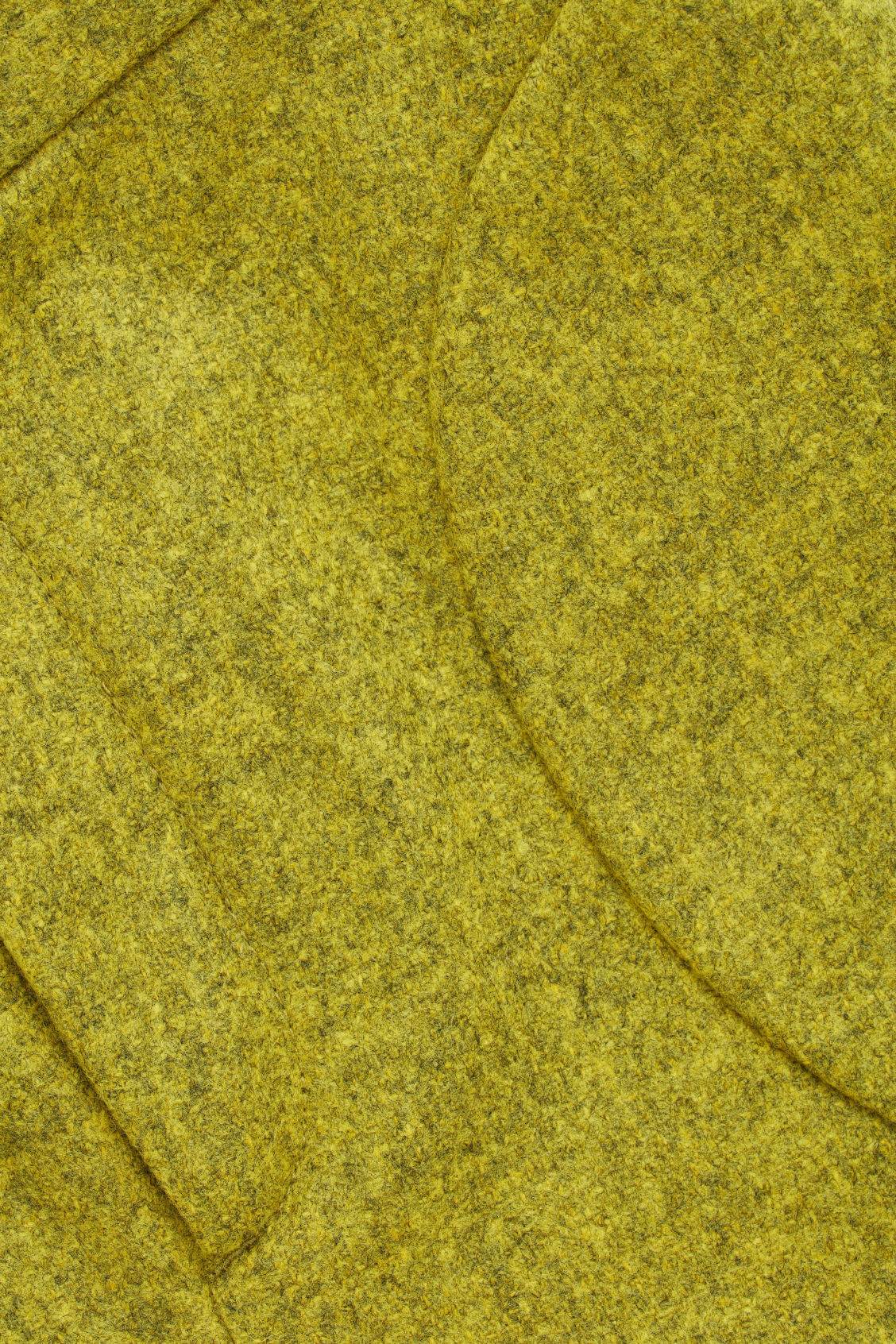 Side image of Cos trousers with pleated pockets in yellow