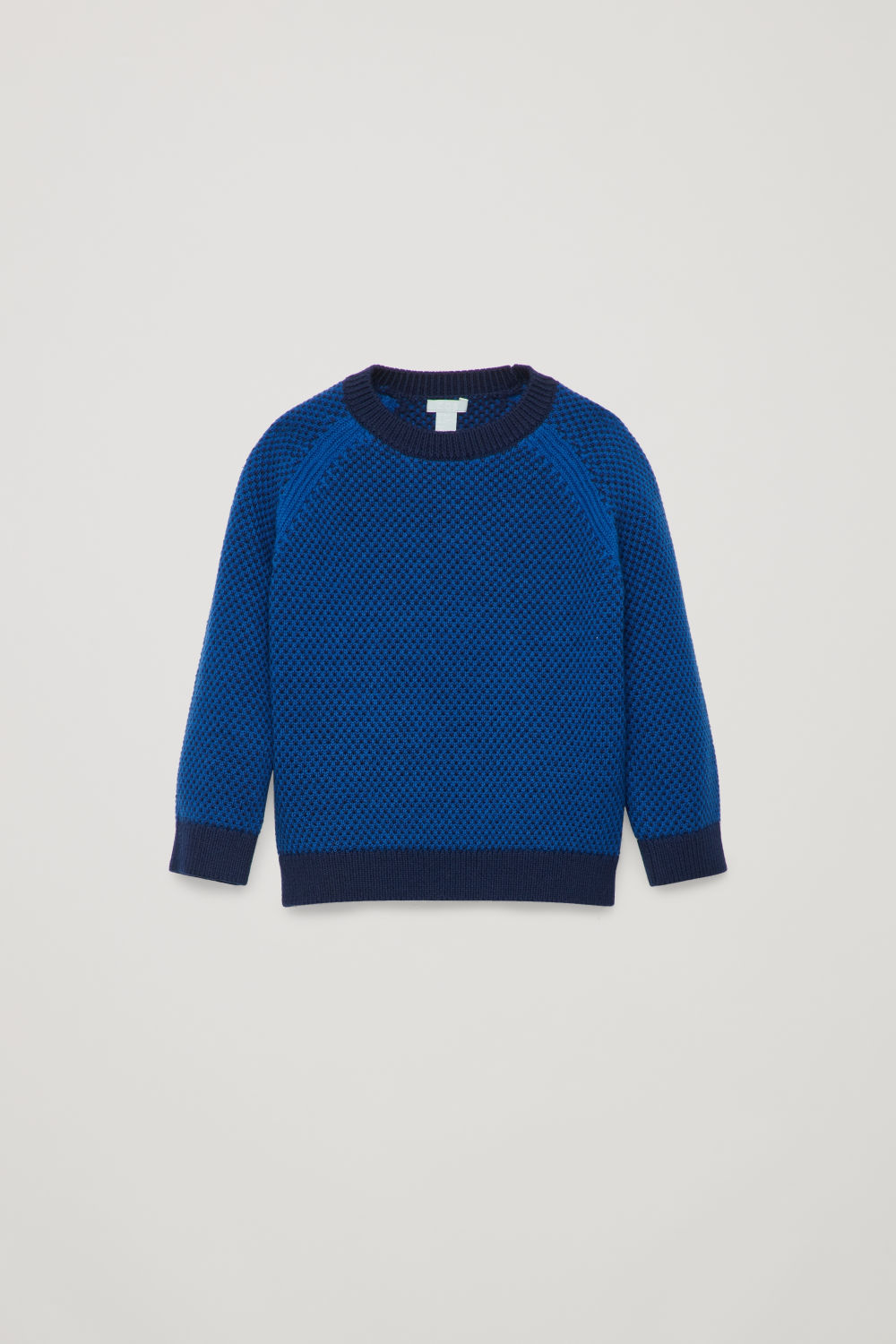 STITCH-PATTERN WOOL JUMPER