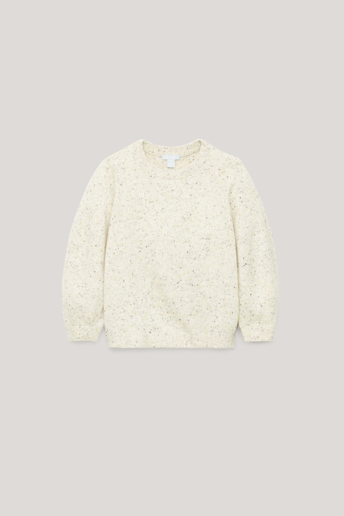 Front image of Cos flecked wool jumper  in neutral