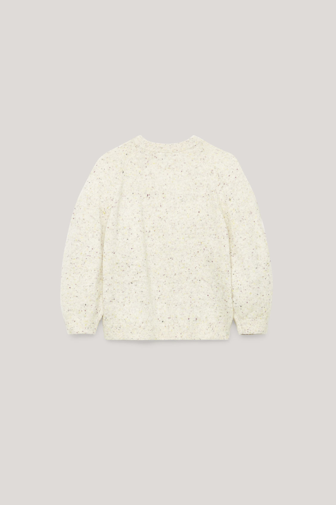 Side image of Cos flecked wool jumper  in neutral
