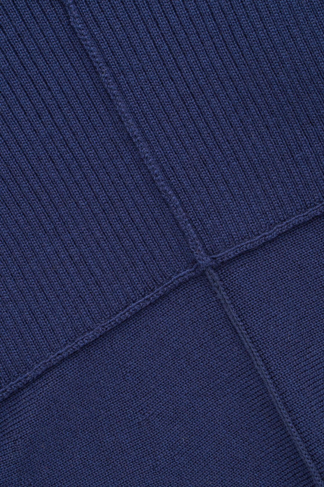Side image of Cos mix-knit merino dress  in blue