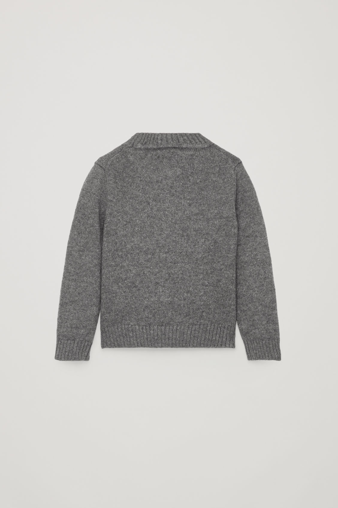 Side image of Cos cashmere knitted jumper  in grey
