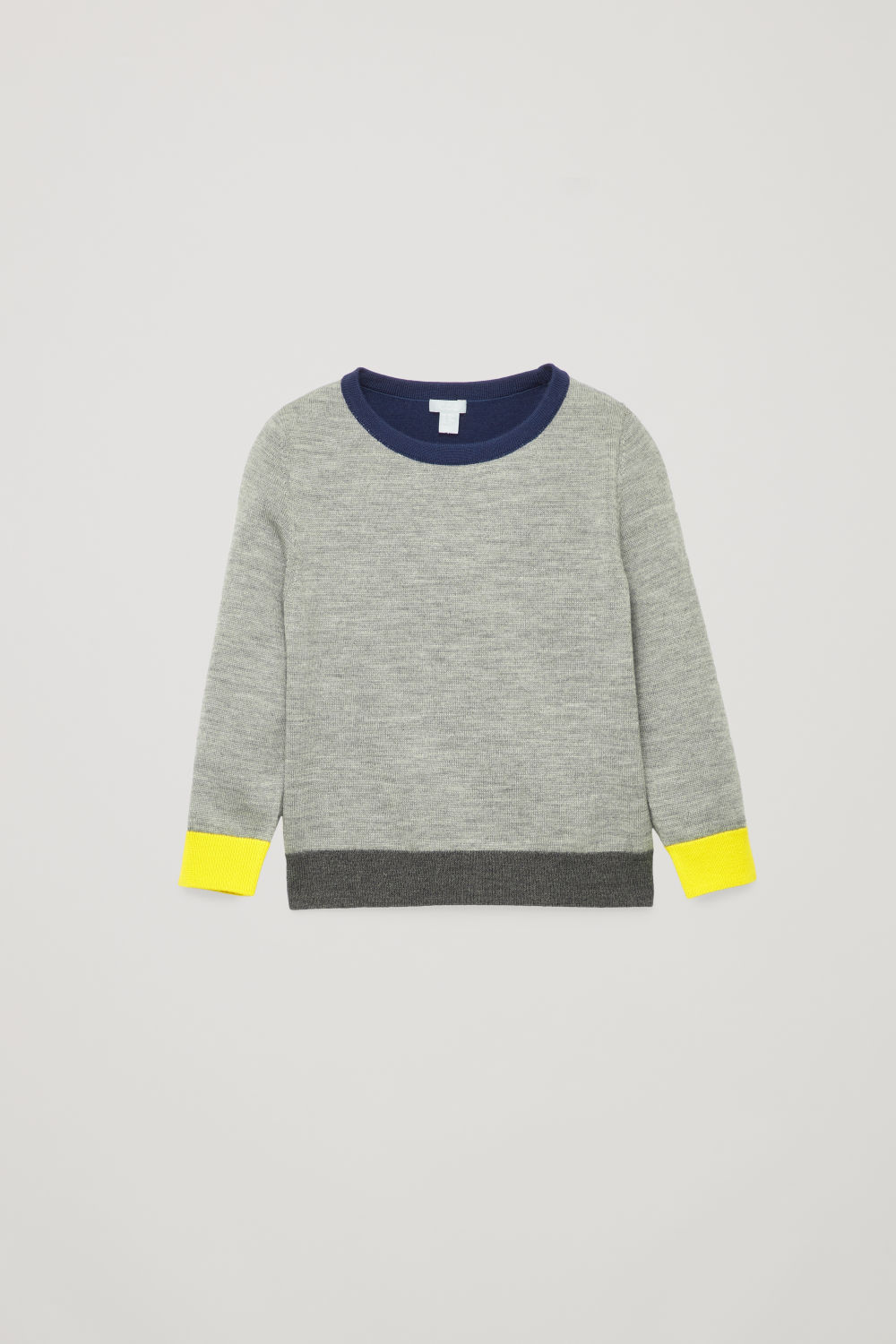 COLOUR-BLOCK MERINO JUMPER