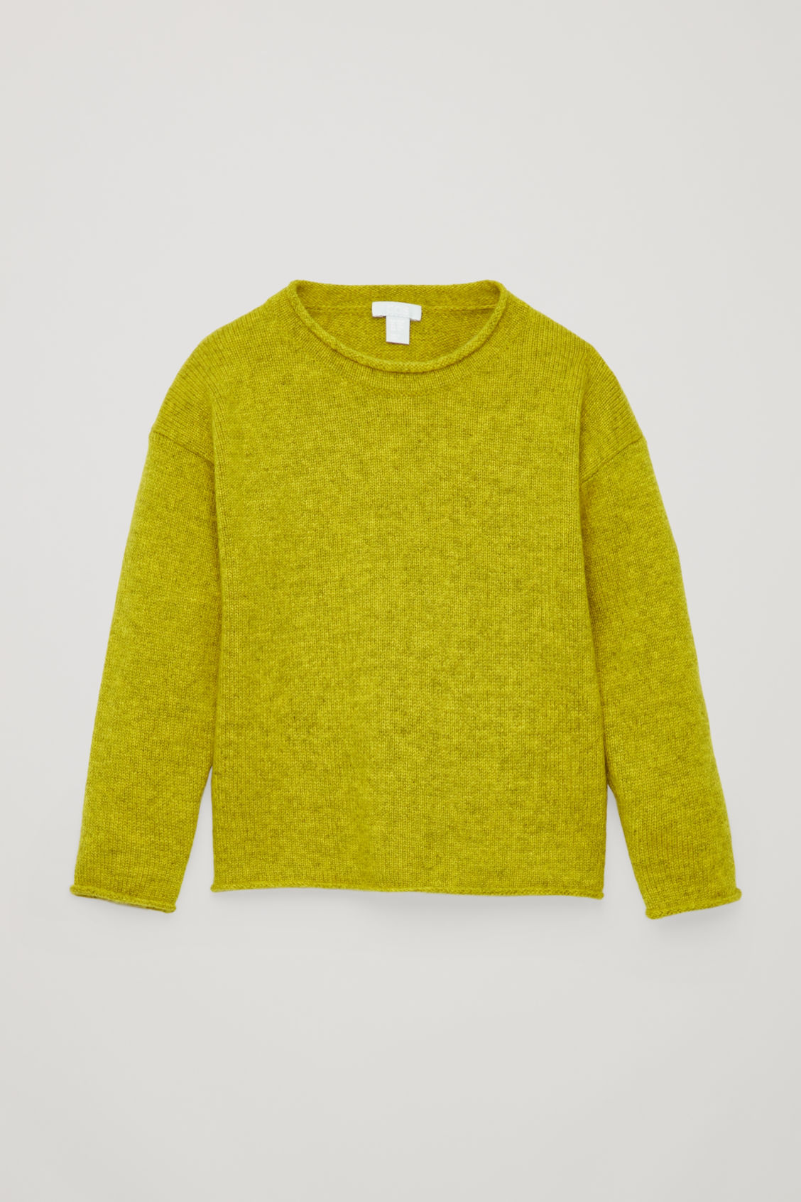 Front image of Cos cashmere knitted jumper in yellow