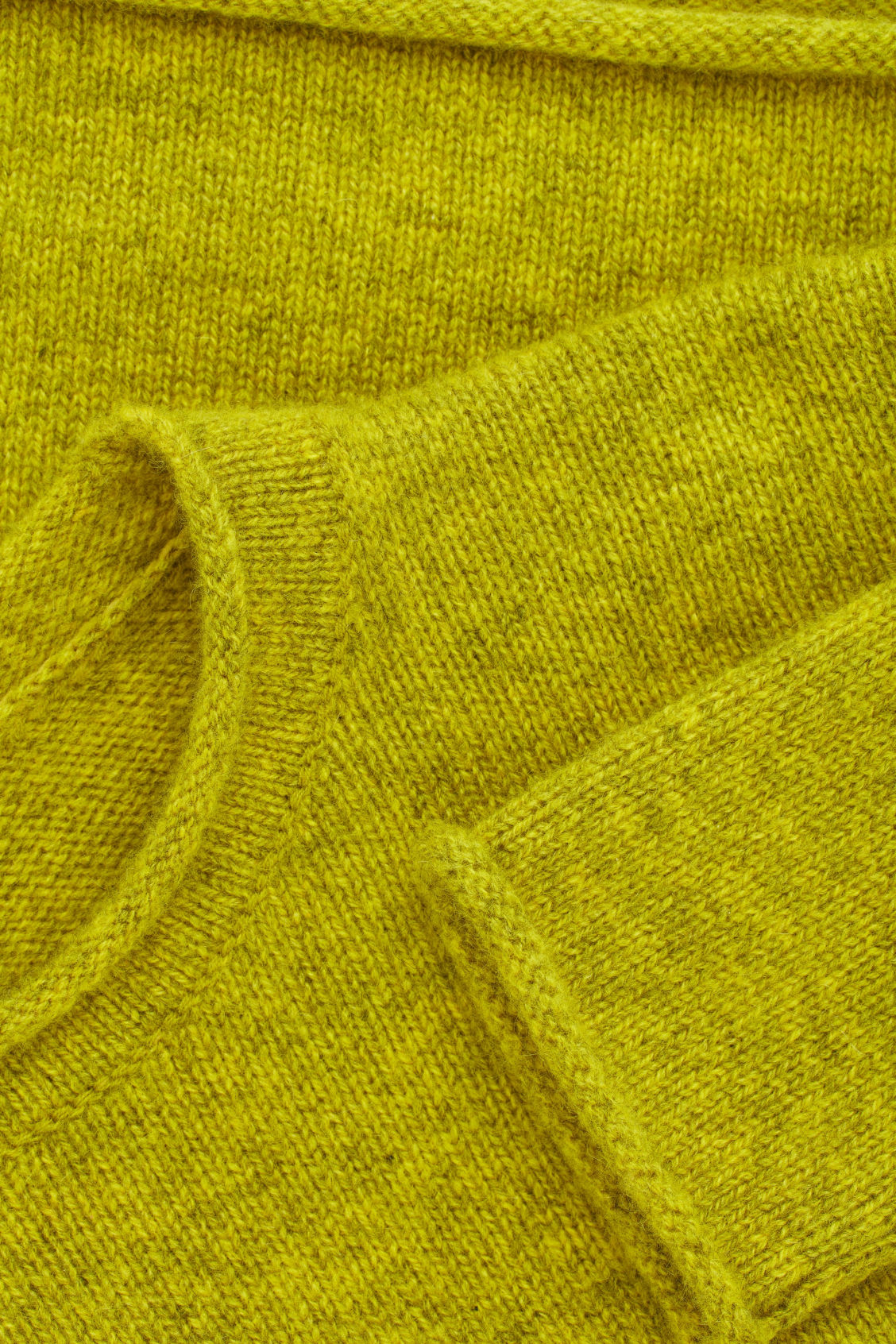 Side image of Cos cashmere knitted jumper in yellow
