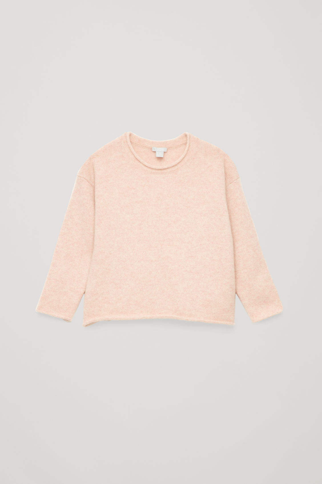 Front image of Cos cashmere knitted jumper in pink