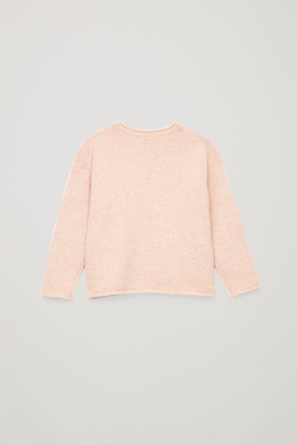 Side image of Cos cashmere knitted jumper in pink