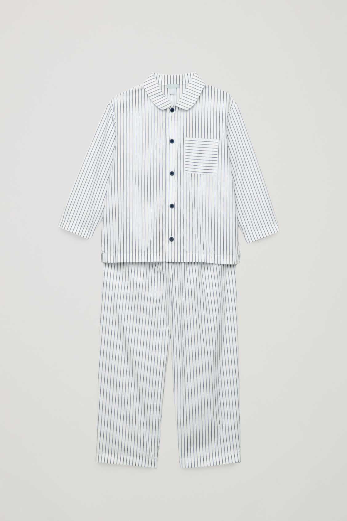 8a4935bb45c2 STRIPED PYJAMA SET - White   Navy - Boys - COS