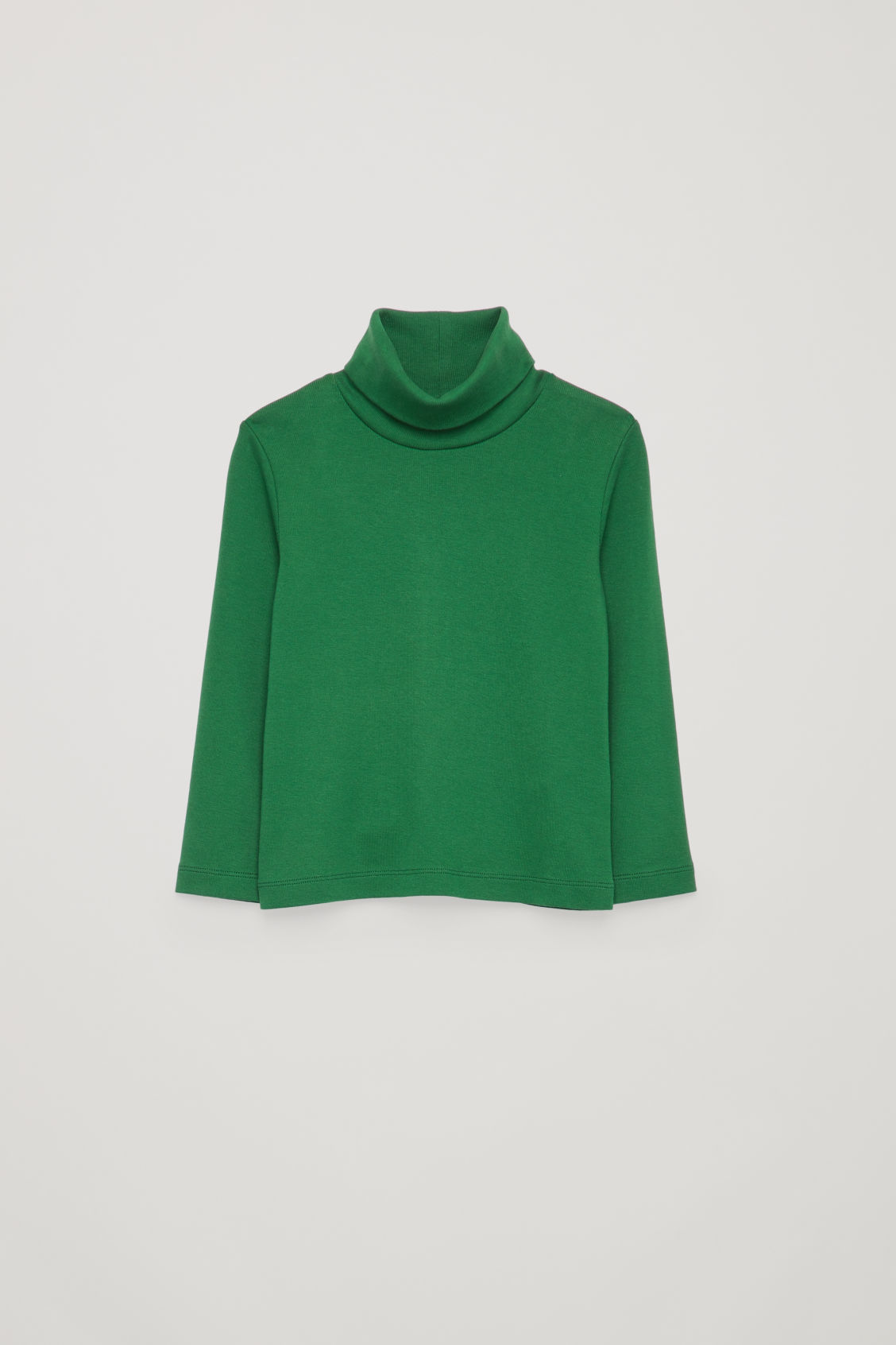 JERSEY ROLL-NECK JUMPER