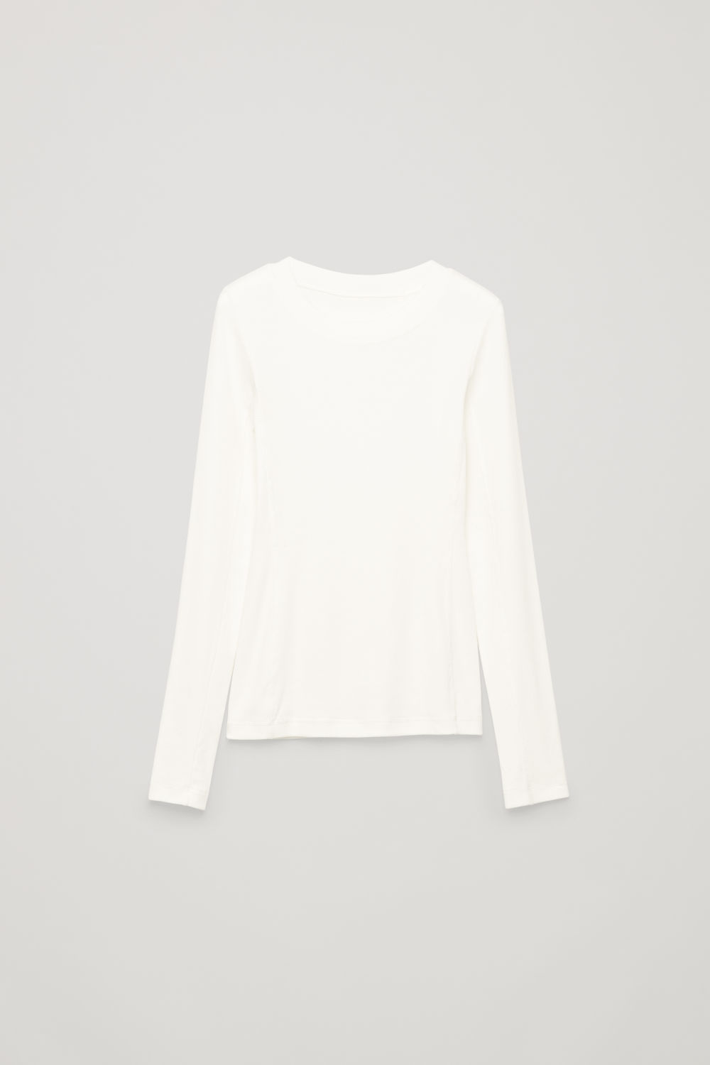 SLIM RIBBED-JERSEY TOP