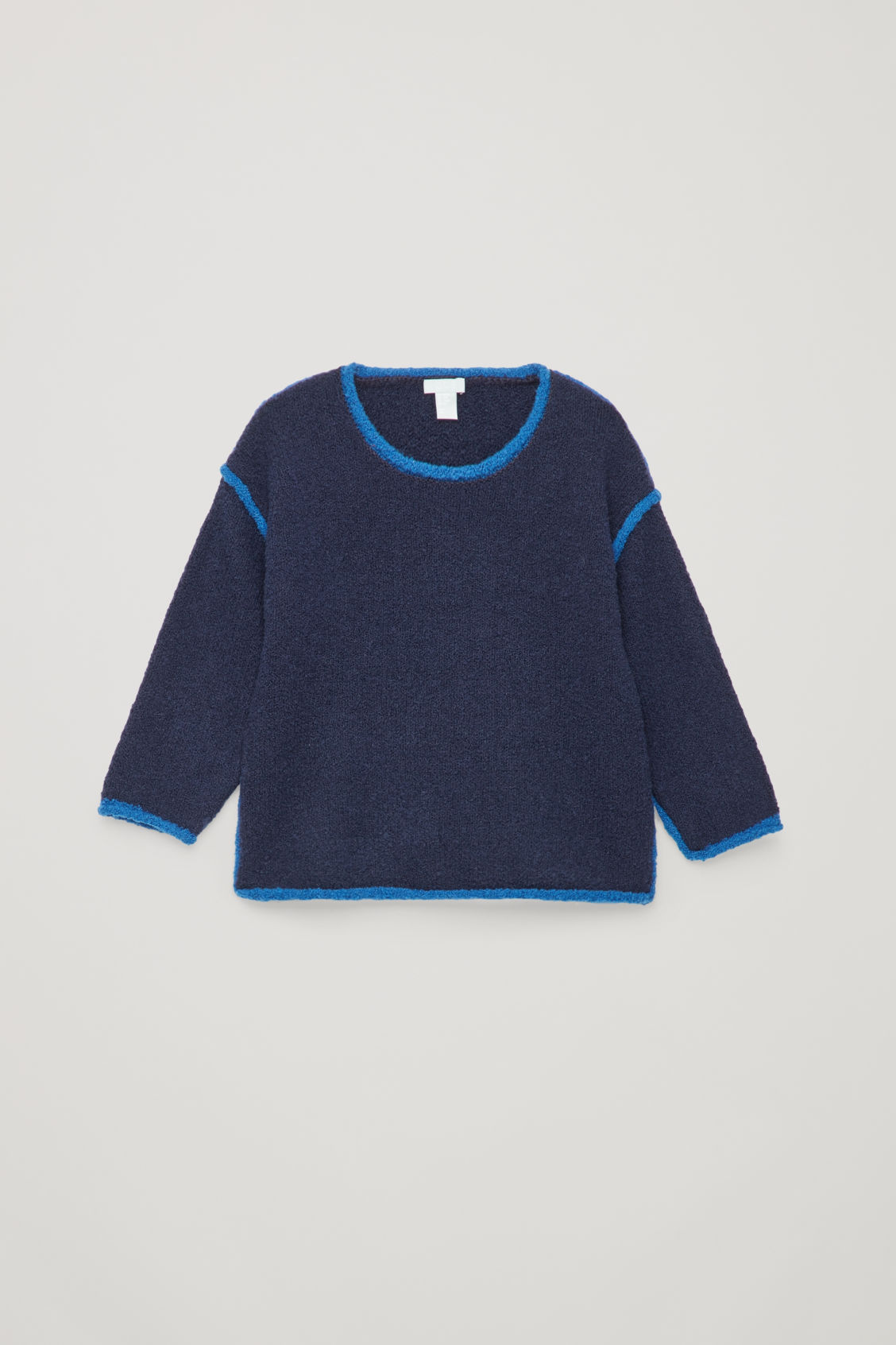 Front image of Cos boiled-wool jumper  in blue