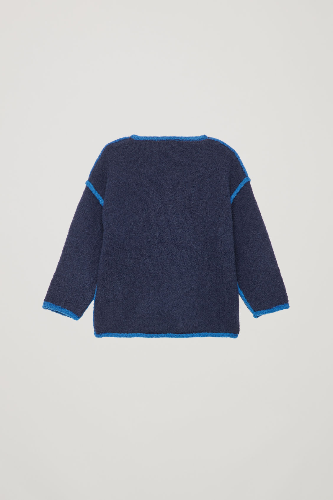 Side image of Cos boiled-wool jumper  in blue