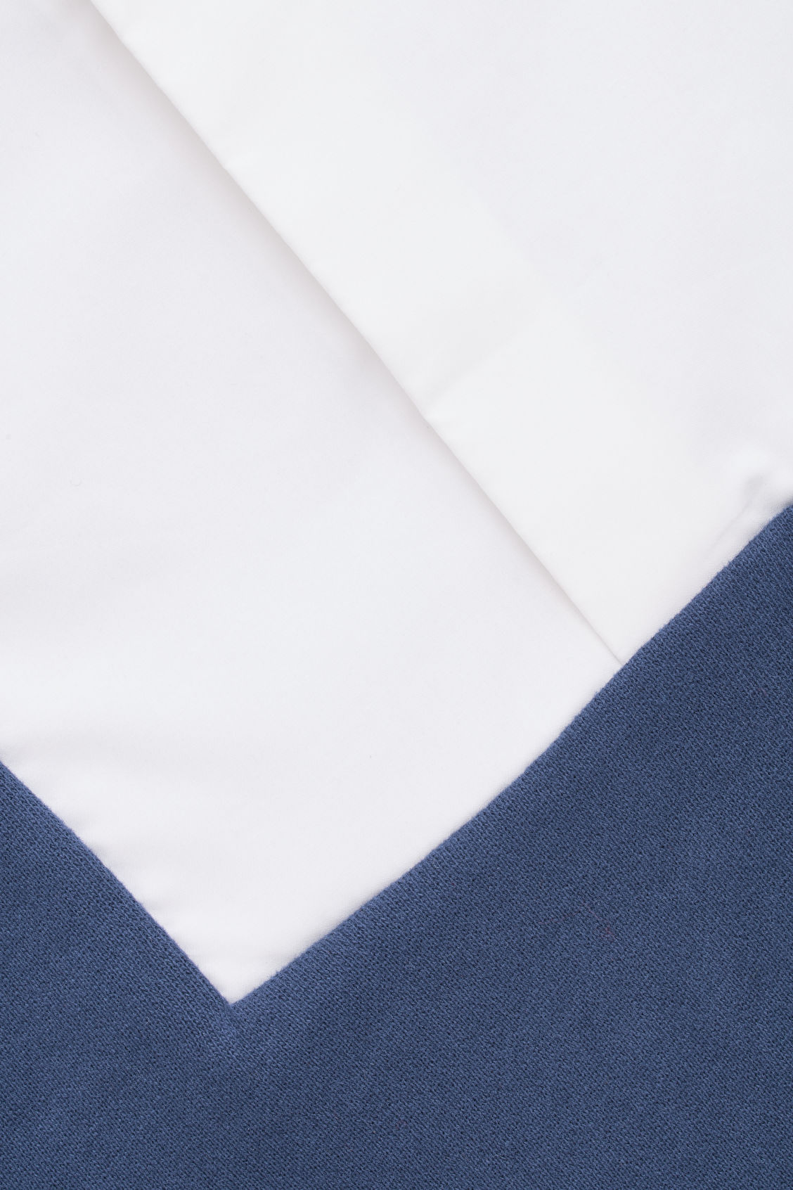 Side image of Cos jersey-woven mix shirt in blue