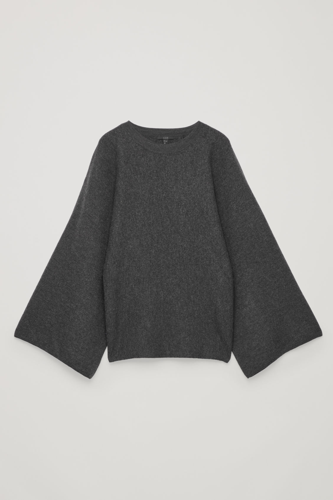 Front image of Cos kimono wool jumper in grey