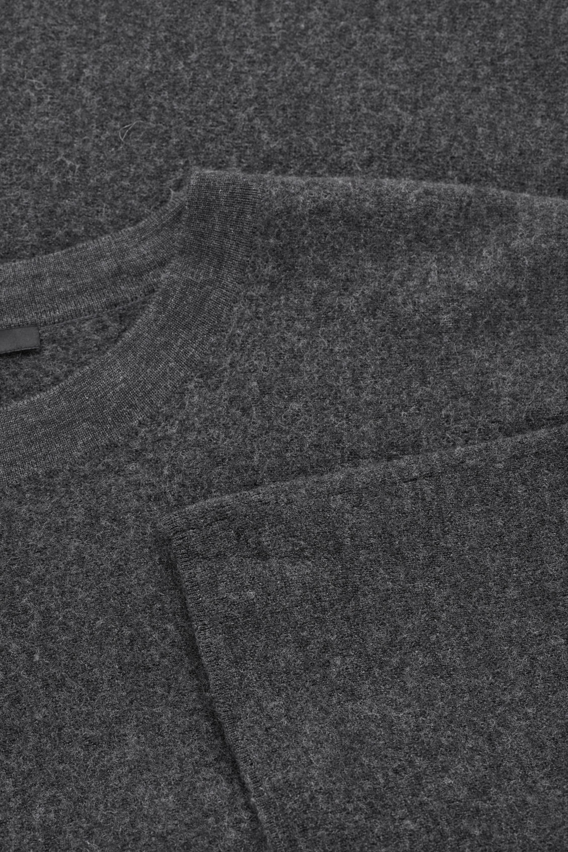 Side image of Cos kimono wool jumper in grey