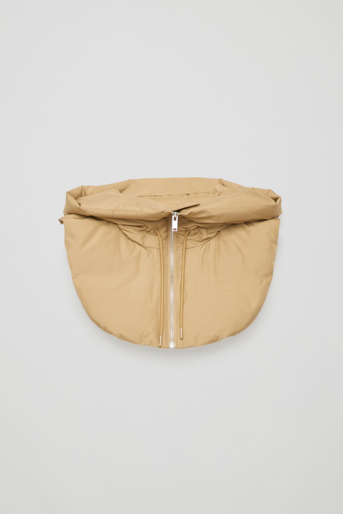 Front image of Cos padded hood in beige