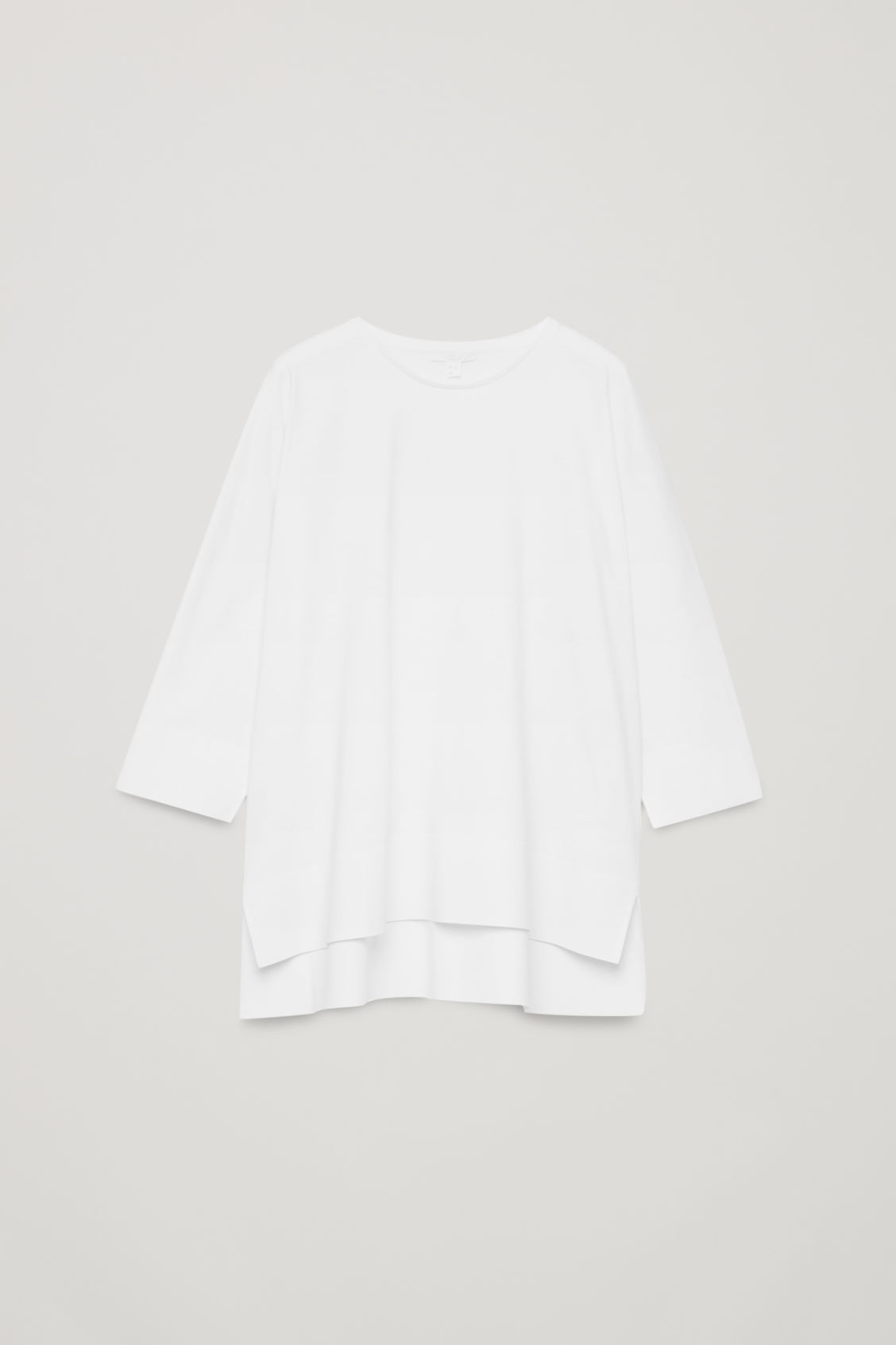 Front image of Cos bonded cotton top  in white