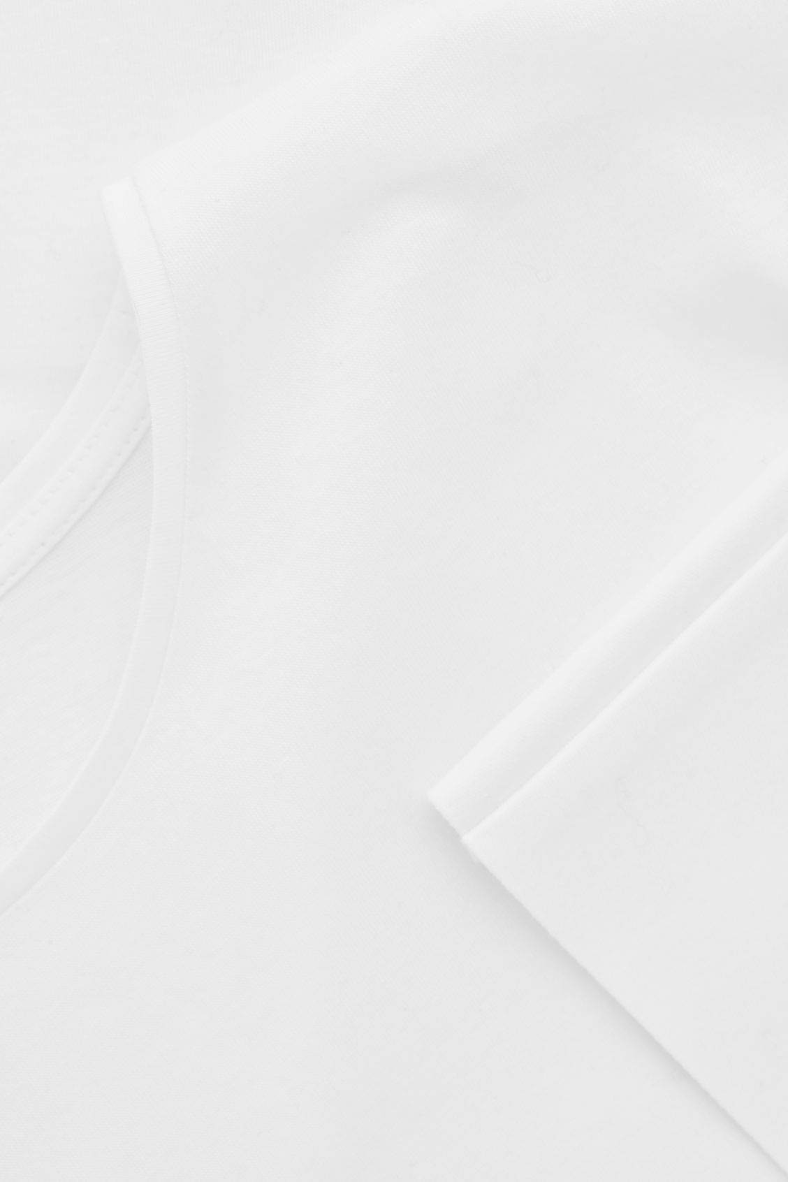 Side image of Cos bonded cotton top  in white