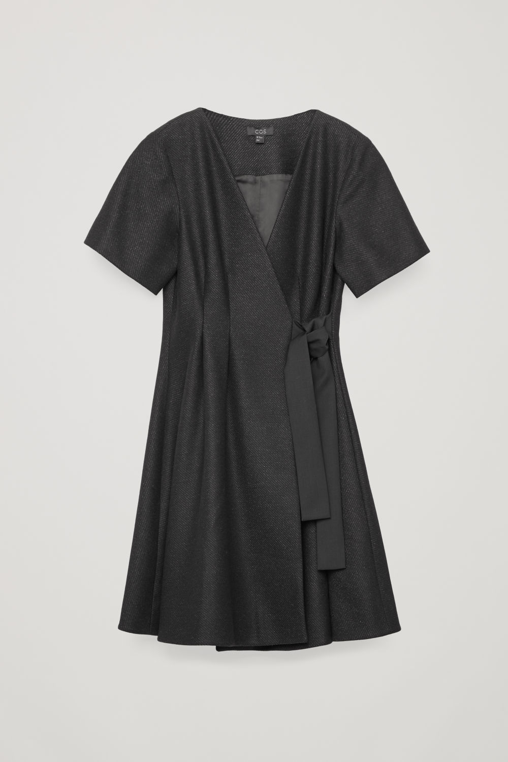 TIE-UP WOOL WRAP DRESS