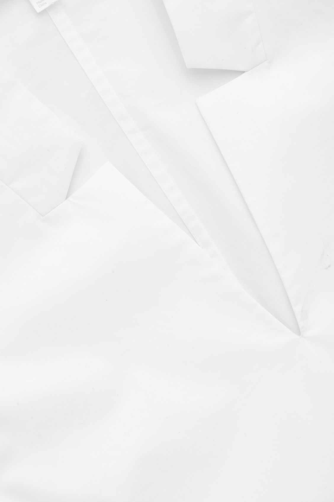 Side image of Cos lapel-detailed cotton shirt  in white