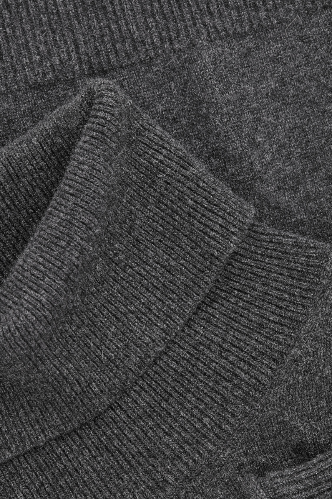 Side image of Cos cashmere roll-neck jumper in grey